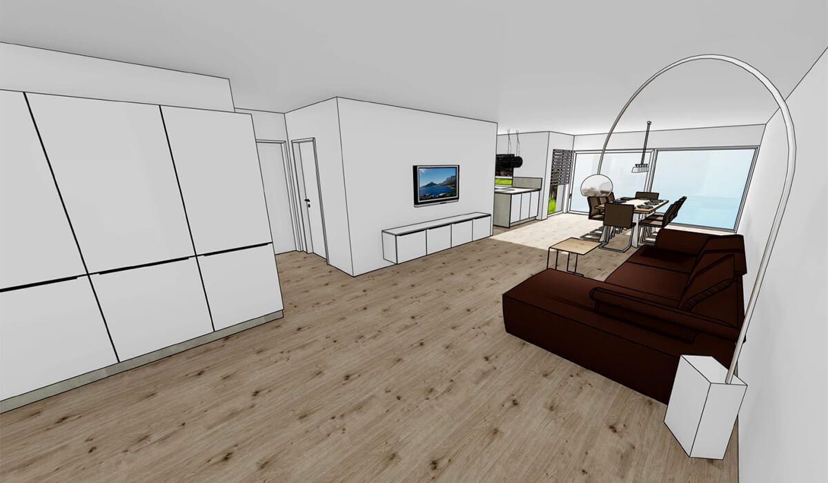 Visualisierung Wohnung 1 - Neubau Hermann-Löns-Weg 1