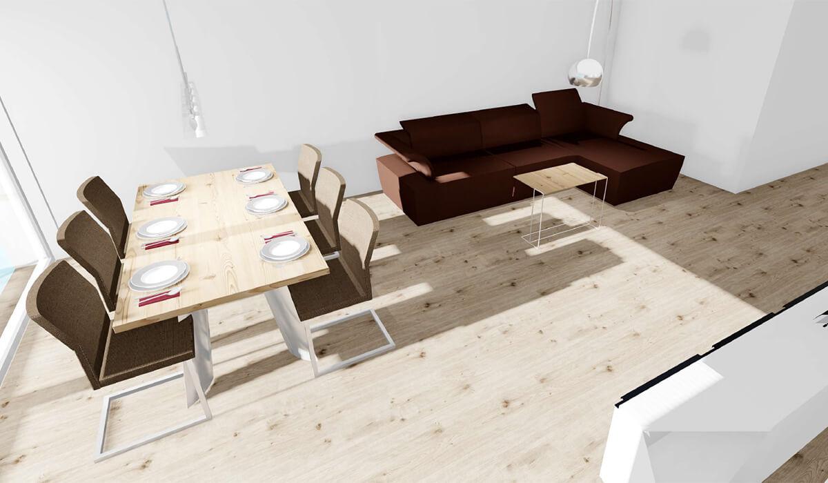 Visualisierung Wohnung 3 - Neubau Hermann-Löns-Weg 1