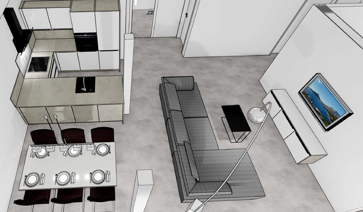 Visualisierung Wohnung 5 - Neubau Hermann-Löns-Weg 1